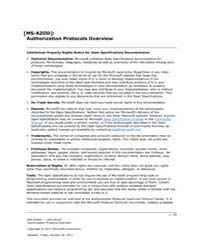 Authorization Protocols Overview by Microsoft Corporation